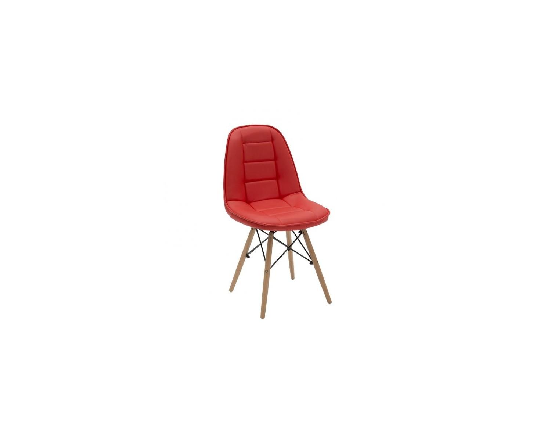 Sedia rossa ecopelle struttura legno estea mobili for Sedia rossa