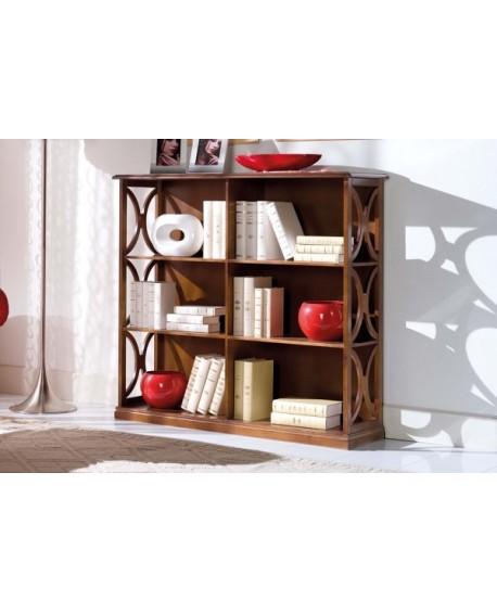 libreria a giorno legno massello