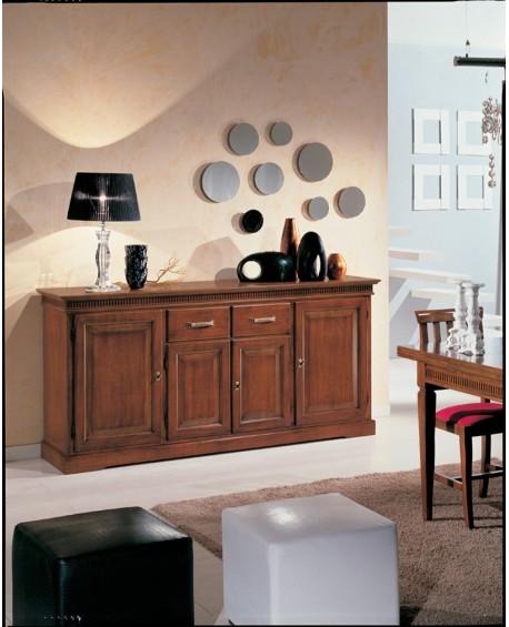 mobile credenza legno colore noce con intarsio x soggiorno ... - Mobili X Soggiorno Foto