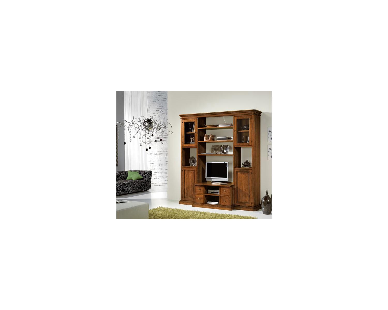 Parete libreria porta tv in legno per soggiorno l 212 p 58 - Porta tv in legno ...