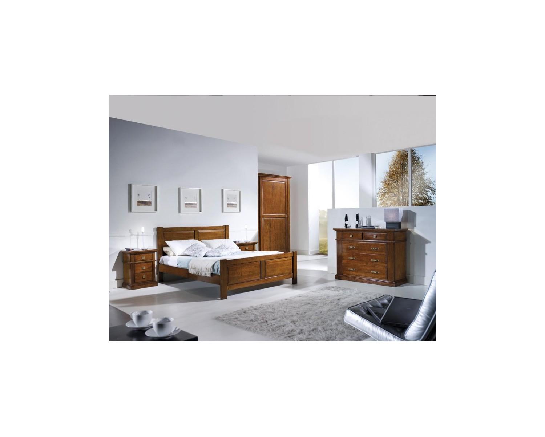 Letto matrimoniale artigianale legno massello estea mobili - Letto matrimoniale legno ...