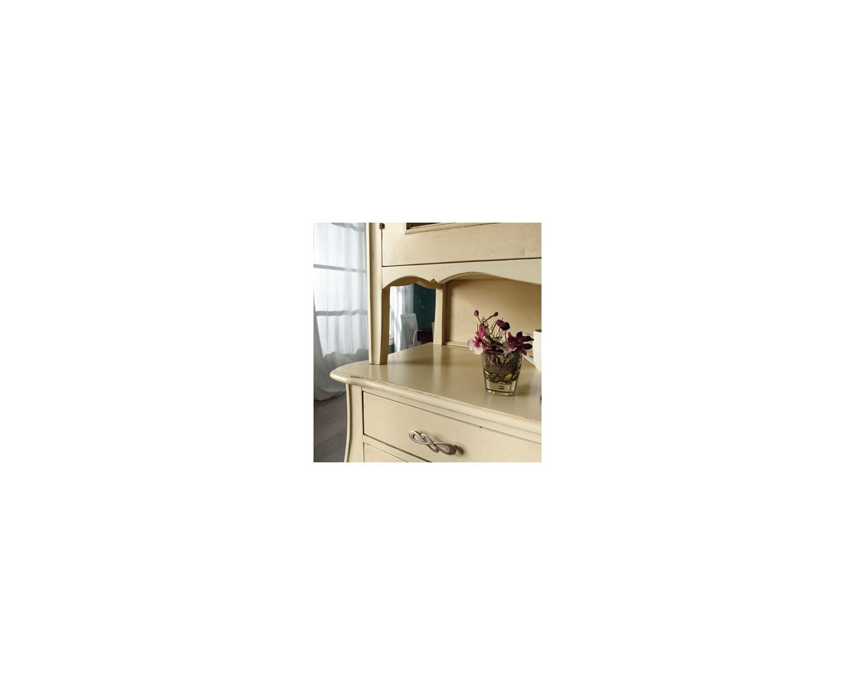 Credenza vetrina laccato avorio legno massello l 105 h 214 for Legno laccato