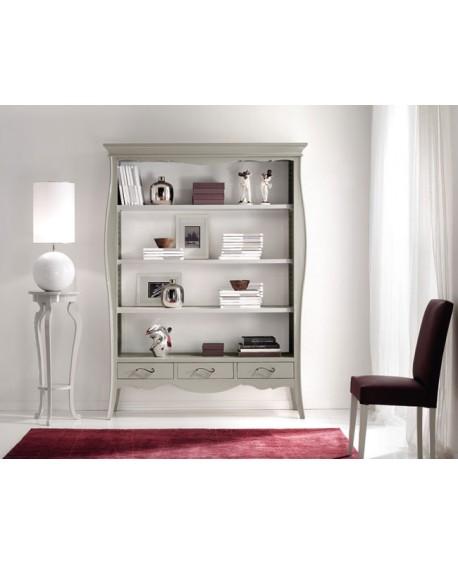 Mobile libreria bicolore smontabile legno massello l 151 h for Mobile libreria