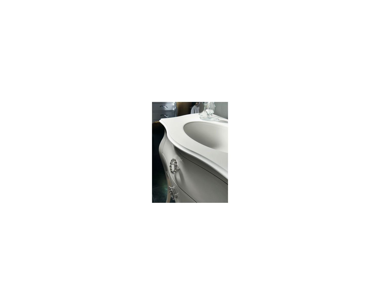 mobile bagno arredo laccato tortora swarovski con specchiera ... - Arredo Bagno Swarovski