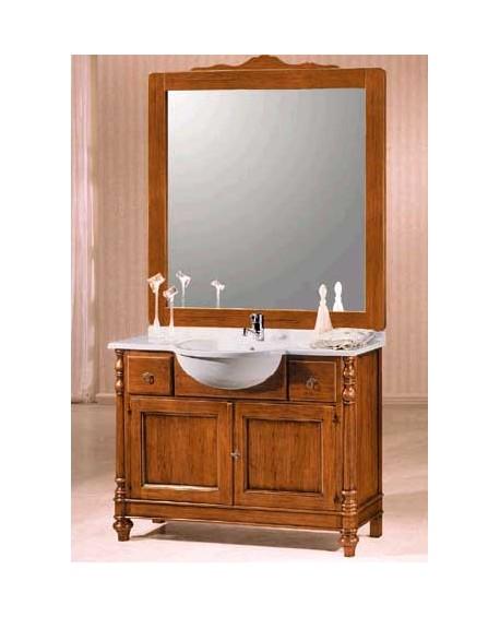 Mobile bagno arredo legno massello arte povera classico for Arredo bagno classico immagini