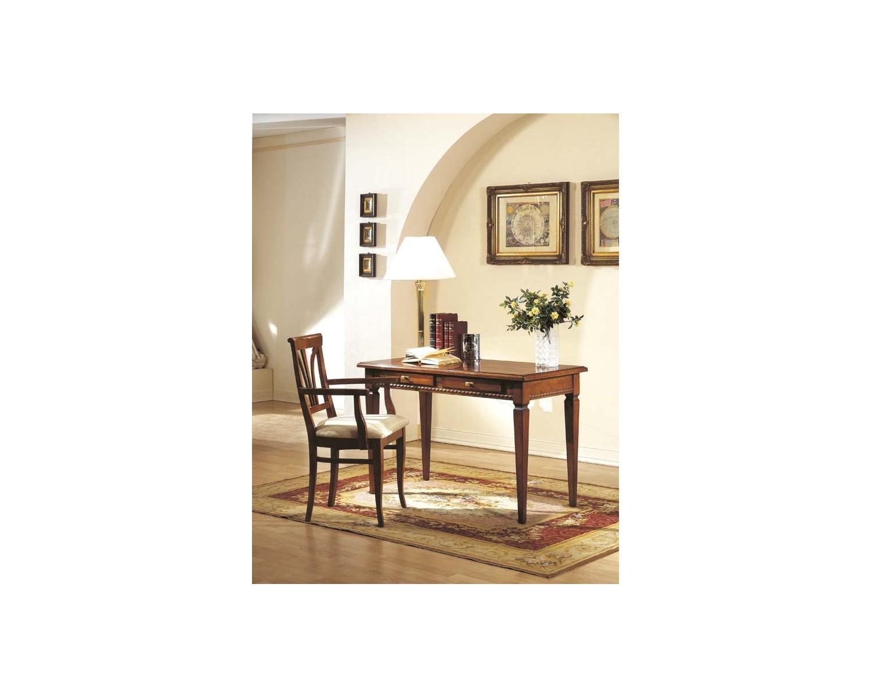 Tavolo scrivania scrittoio legno massello con intarsio for Tavolo legno massello prezzi