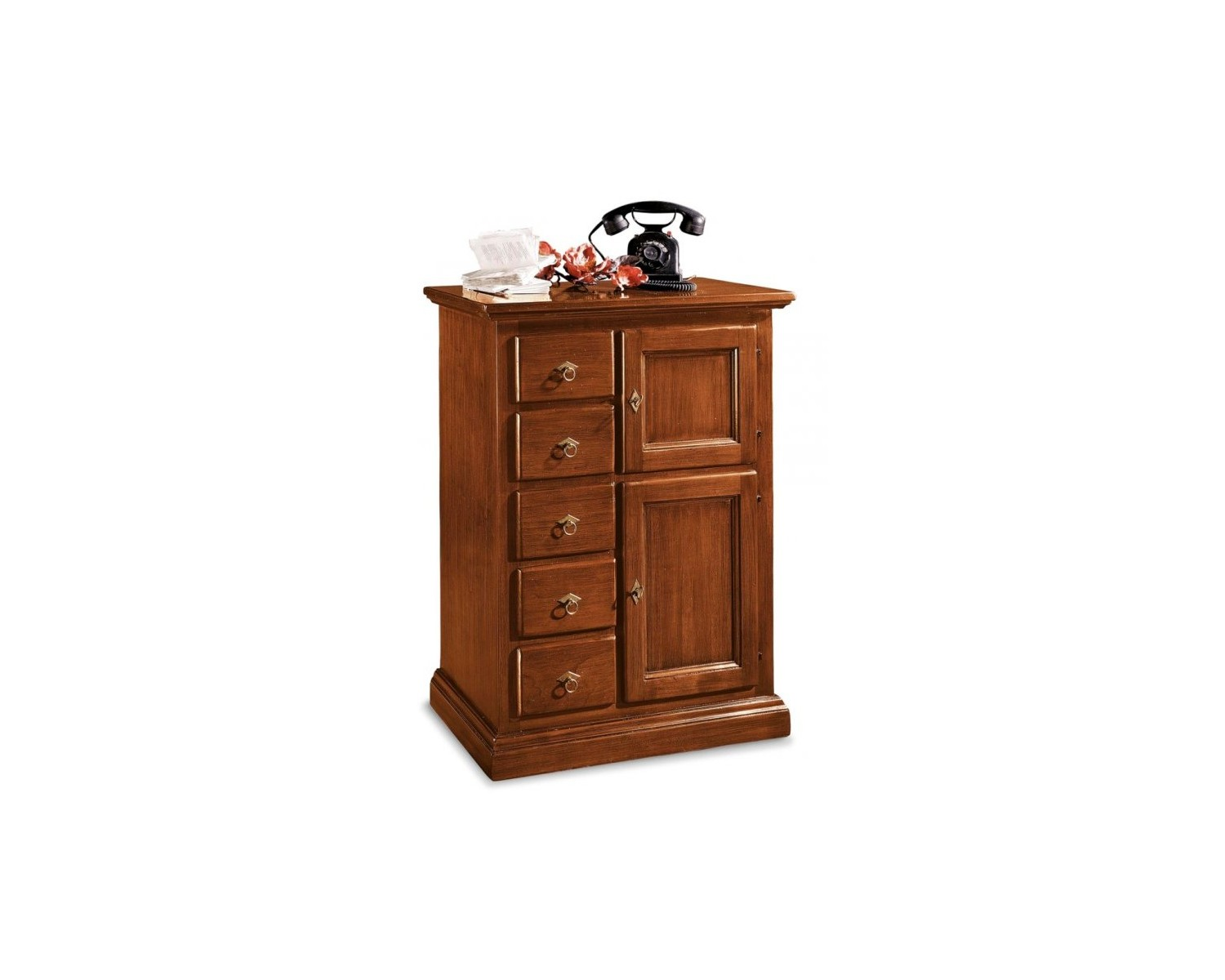 Sideboard wood credenza cassettiera 5 drawers l 75 p 40 h 100 - Mobile credenza ...