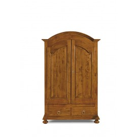 CABINET 2 DOORS WOOD COUNTRY WALNUT COLOR