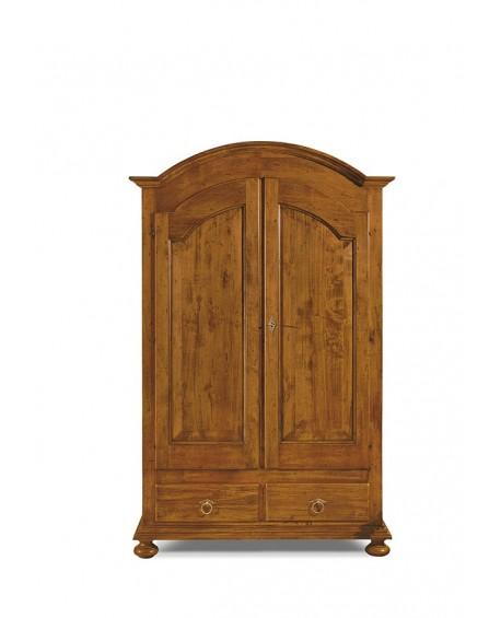 Armadio 2 Ante Legno : Armadio ante legno massello country colore noce