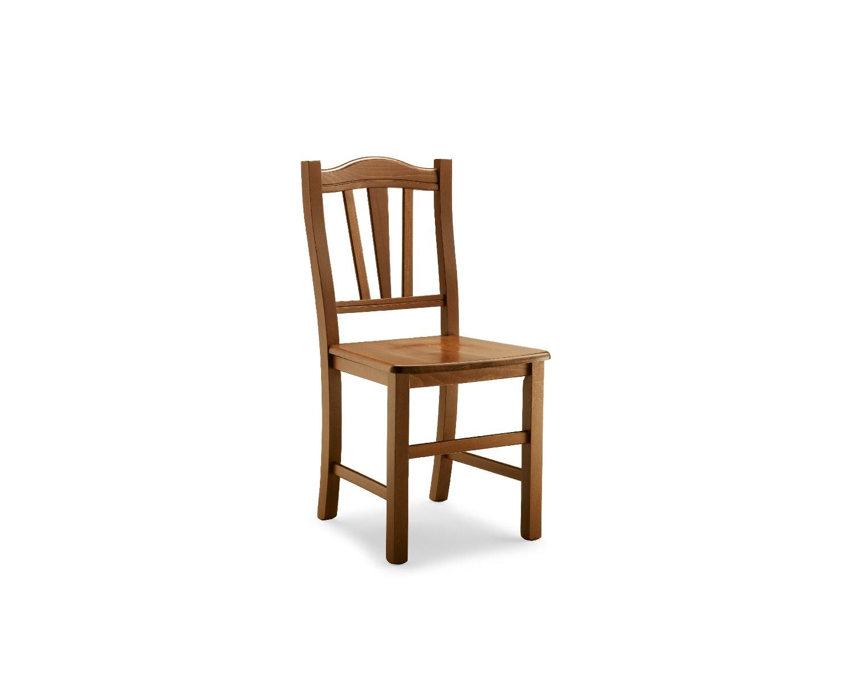 Sedia legno colore noce scuro seduta legno for Colore noce scuro