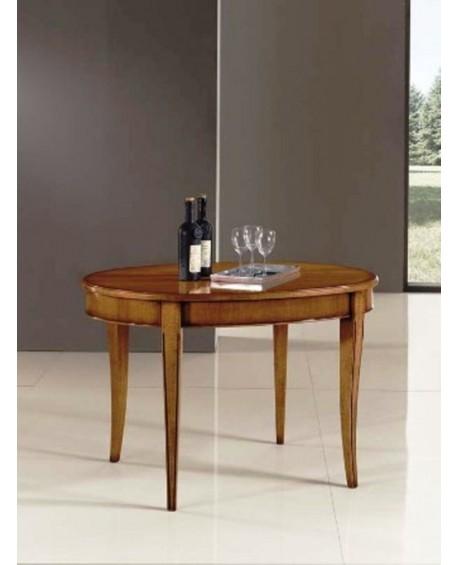 Tavolo legno massello ovale allungabile 80x110 aperto - Tavolo ovale cucina ...