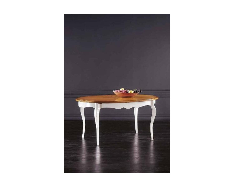 Tavolo Legno Massello Ovale Allungabile L 160 P 110