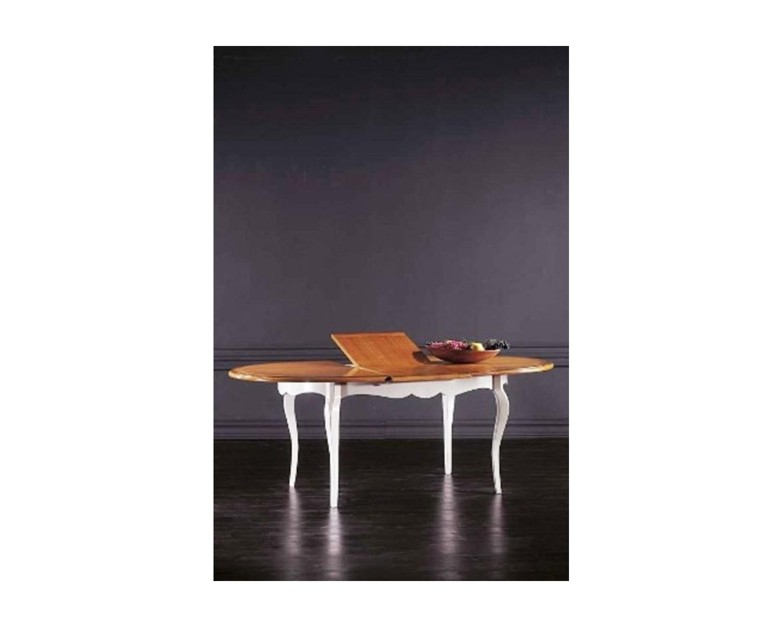 Tavolo legno massello ovale allungabile l 160 p 110 - Tavolo ovale allungabile ...
