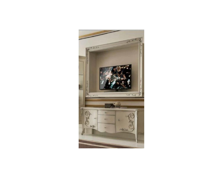 Porta tv mobile tv sospeso in legno bombato con - Porta tv sospeso ikea ...