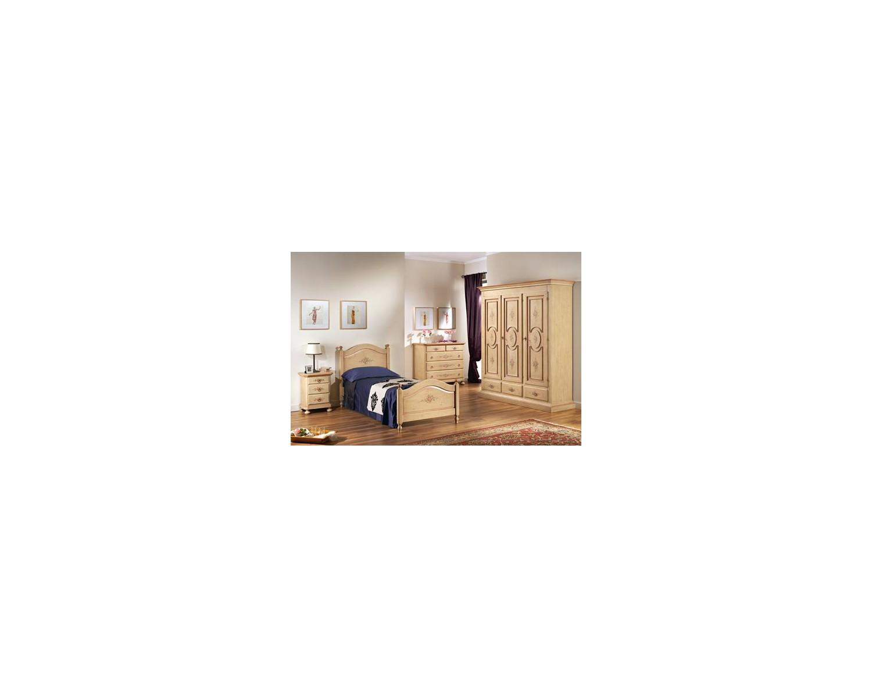 de madera de L 184 P 60 H 217 3 puertas de marfil ANTICATO y decorada