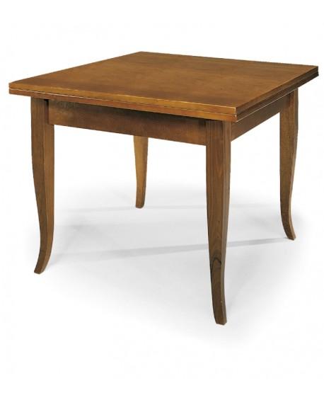 tavolo in legno allungabile a libro 80x80
