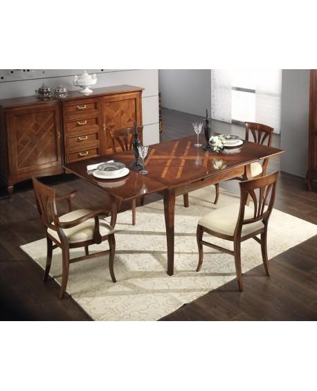 Tavolo in legno massello con intersio allungabile 170x90 2 all cm 40 - Tavolo legno massello allungabile ...