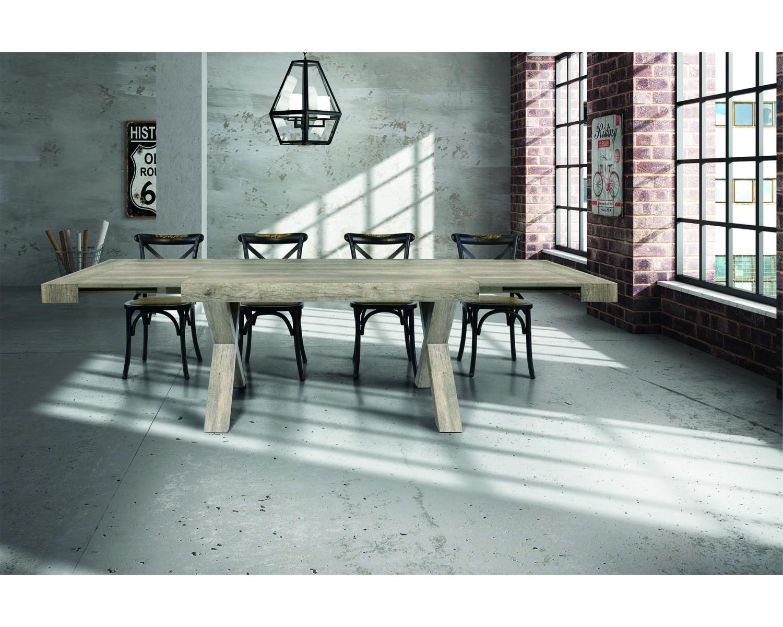 Tavolo invecchiato 180x90 2 laminato con effetto legno invecchiato - Mobili effetto invecchiato ...