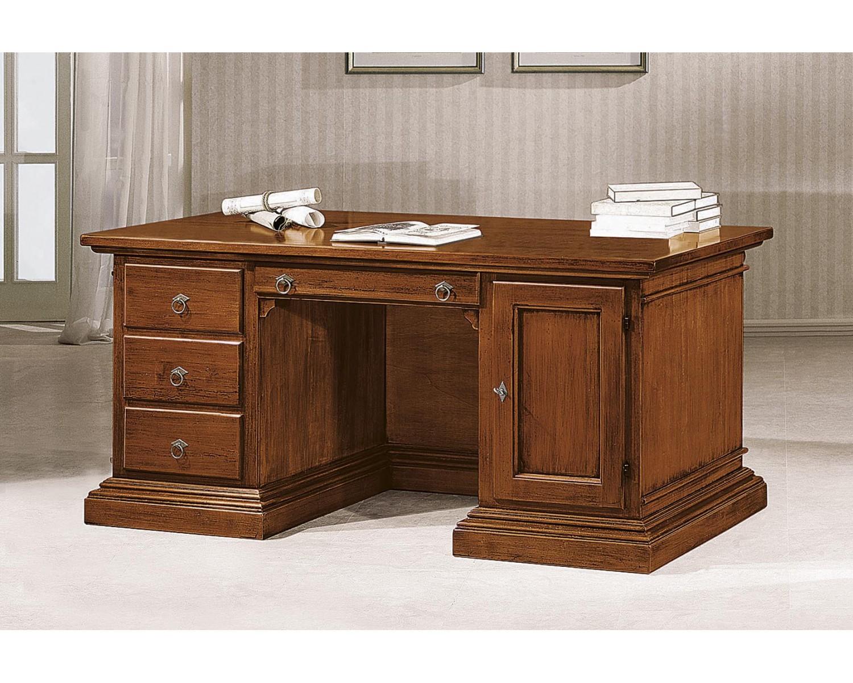 Scrivania intagliata legno massello l p h with scrivanie - Scrivanie legno design ...
