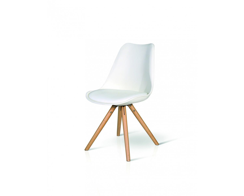 Sedia moderna design legno naturale e imborrita eco pelle for Sedia moderna design