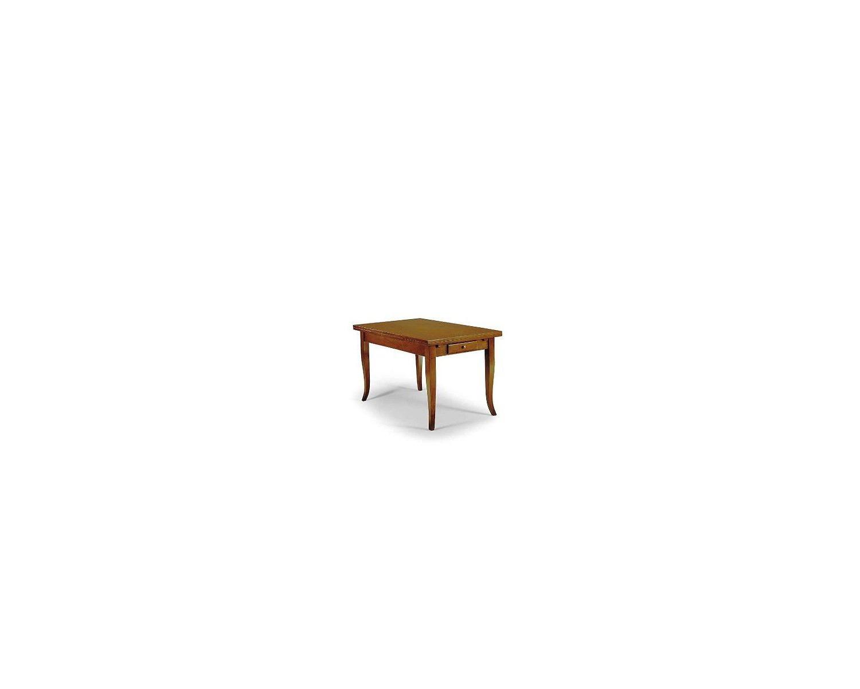 Tavolo legno massello allungabile con greca intasio sul - Tavolo legno allungabile prezzi ...