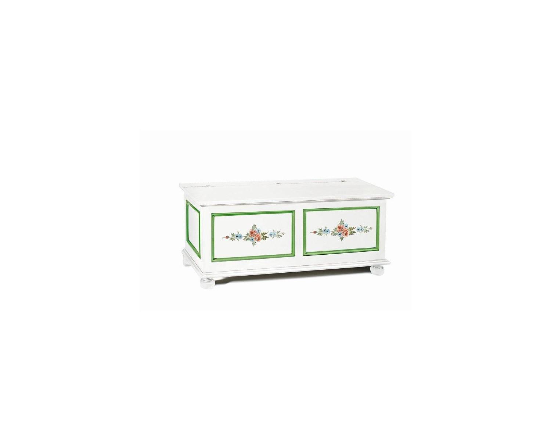 pecho blanco mate con adornos y flores de color verde - codluis 335