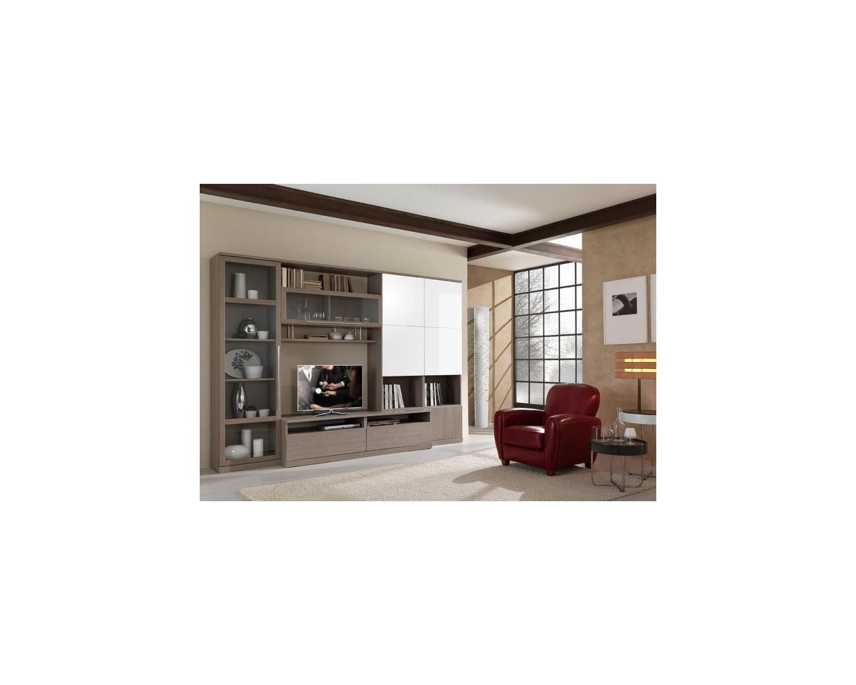 Parete da soggiorno moderno porta tv vari colori - Colore parete soggiorno ...