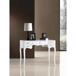 Tavolo scrivania legno laccato bianco for Tavolo bianco laccato