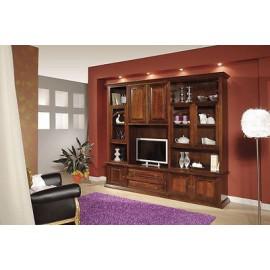 Librerie a parete in legno libreria a parete in legno - Mobili soggiorno legno massello ...