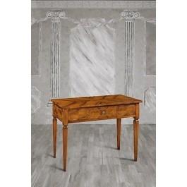 Tavolo consolle legno intarsiato arte povera for Tavolo legno intarsiato