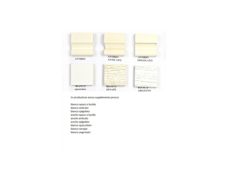 Armadio 3 ante battenti legno massello provenzale panna e for Armadio bagno bianco