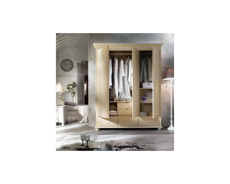 3 puertas de madera PROVENZALE crema y blanco ANTIGUO - VARIOS COLORES