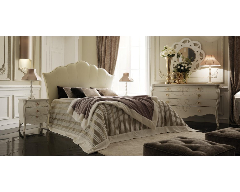 Camera da letto come foto legno massello bombata colore bianco letto como comodini - Camera di letto usato ...