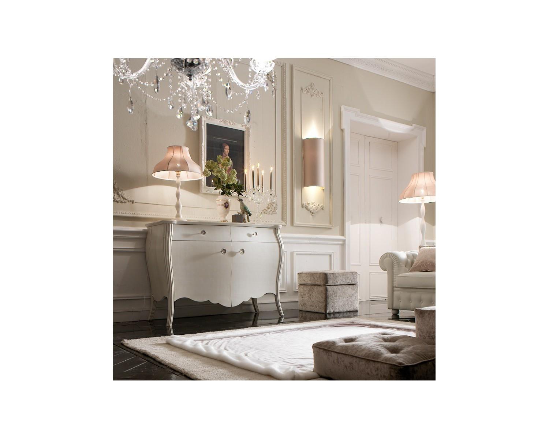 Credenza mobile legno massello bombata colore bianco vari - Cambiare colore mobile legno ...