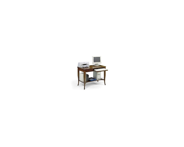 Tavolo in legno scrivania porta pc arte povera - Tavolo porta pc ...