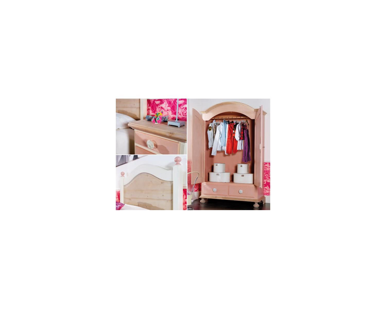 Camera da letto bambino legno massello laccata azzurro - Camera letto legno ...