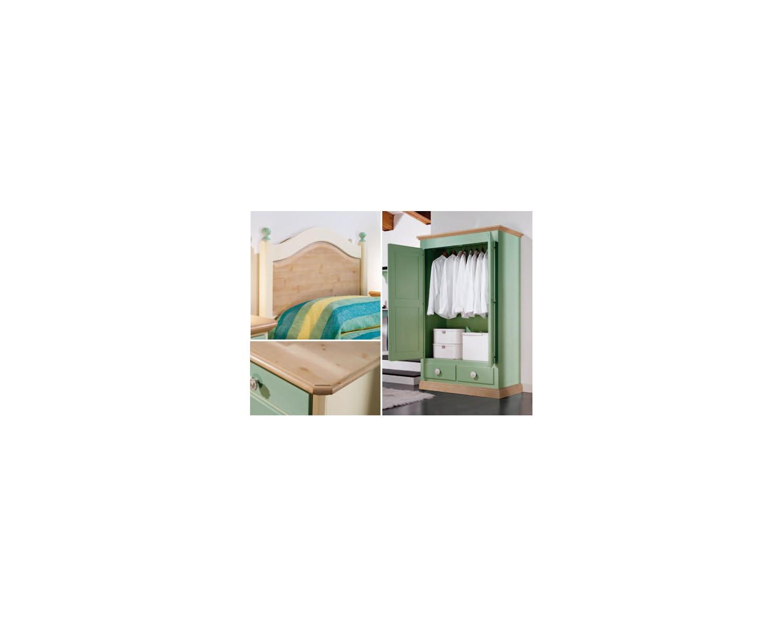 Camera da letto bambino legno massello laccata azzurro - Camera da letto bellissima ...