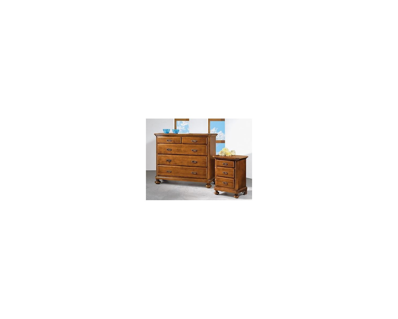 Comodino legno noce arte povera super prezzo x camera da letto for Camera da letto arte povera
