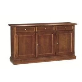 Credenza credenzina legno sala salotto cucina soggiorno 3 ante arte povera - Ante in legno per cucina ...