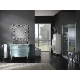 mobile bathroom furniture painted mirror with swarovski