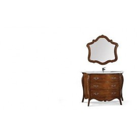 MOBILE BATHROOM FURNITURE WOOD ART POOR CLASSIC WITH MIRROR
