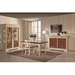 Mobile sala completa intarsiatalegno avorio e noce design for Mobile sala design