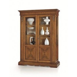 SHOWCASE MOBILE LIBRARY INTARSIATA 2 ANTEBASSANO WOOD