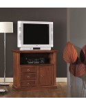 TV STAND WITH POOR ART WOOD WALNUT ENTRANCE HALL