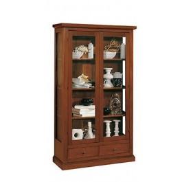 Libreria vetrina arte povera legno col noce salotto ingresso for Libreria salotto