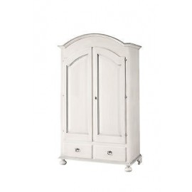 CABINET x bedroom - 2 LEAVES WHITE PAINTED WOOD COUNTRY PROVENZALE