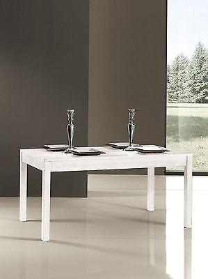 Tavolo Allungabile Laccato Bianco.Tavolo Legno 180 X 90allungabile Laccato Bianco Avorio Anticato