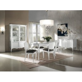 Tavolo Sala Moderno.Tavolo Rotondo All Legno Moderno Laccato Bianco Legno Massello X Sala Salotto