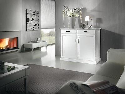 Credenza Moderna Salotto : Mobile credenza legno moderno laccato bianco massello x sala