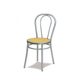 THONET CHAIR GRAY METAL ALUMINUM KITCHEN SITTING ROOM P VIENNA